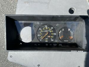 Volvo 240 Speedometer Cluster 1981 1985 Cable Driven No Clock