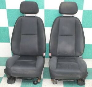 07 13 Gm Truck Crew Black Cloth A95 Dual Power Electric Seat Bucket Seats Bags