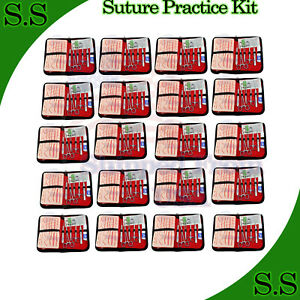 15 Kits19 Pcs Suture Practice Complete Suture Training With Silicone Pad Ds 1348