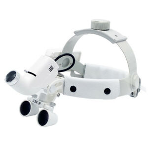 Dental Binocular Loupe With Led Headlight Surgical Medical Optic Glass Magnifier