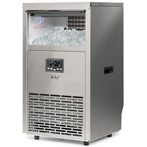 Deco Chef Commercial Ice Maker Makes 99lb Ice Cubes Every 24 Hours 33lb Storage