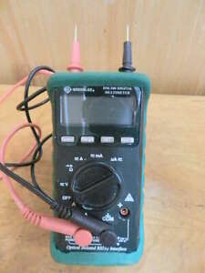 Greenlee Dm 200 Digital Multimeter With Leads Bumper Case Stand