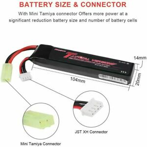 11.1V 1000mAh 3S LiPO Rechargeable Battery 20C for Airsoft with Mini Tamiya Plug $15.18