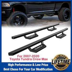 For 2007 2020 Toyota Tundra Crew Max 5 Running Board Side Step Nerf Bar Black