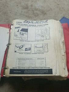 Case Model 730 830 Eagle Hitch Tractor Parts Catalog A906 C928 Early Late Lot