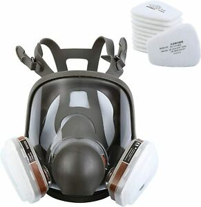 15 In 1 Full Face Facepiece Respirator Gas Mask For 6800 Painting Spraying Usa