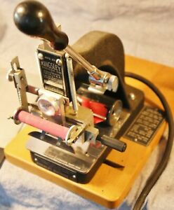 Vintage Kingsley Hot Foil Stamping Machine And A Ton Of Accessories