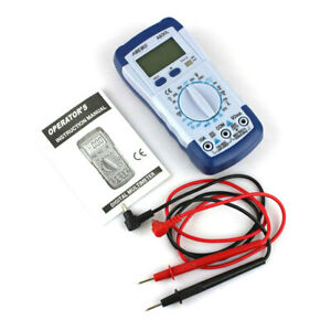 Lcd Digital Multimeter Dc Ac Voltage Multi tester A830l blue With White