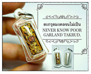 Thai Amulet Never Know Poor Garland Takrud 9 Billionaires Yant By Phra Arjarn O