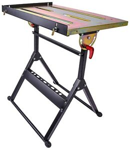 Jegs 81780 Welding Table 5 Adjustable Positions 350 Lb Capacity Tabletop Dime