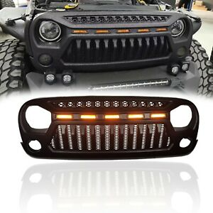 Hapso Modified Front Grille 2nd Edition With Led Light For Jeep Wrangler Jk07 18