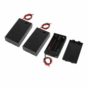 3 Pcs Battery Holder Case Box 2 wire On off Switch For 3 X Aaa 4 5v Batteries
