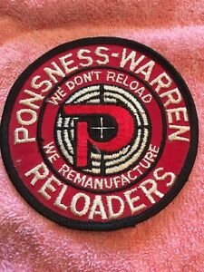 """Ponsness Warren Reloaders Ammo Ammunition Reloading 4"""" Round Embroidered Patch $8.99"""