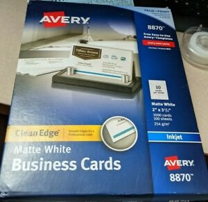 Avery Clean Edge Business Cards White 1000 Count 8870