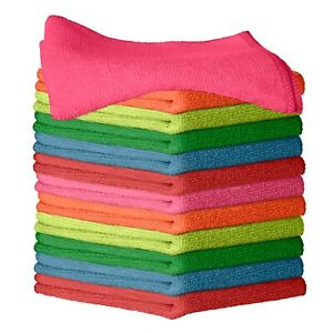 12 Microfiber Cleaning Cloth Towel Absorbent No Scratch Car Polishing Detailing $9.97