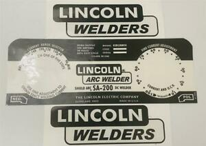 Lincoln Electric Arc Welders Sa 200 163 Black Decal wrap Control Plate Decals