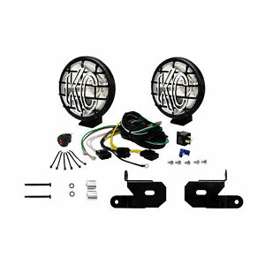 Kc Apollo Pro Halogen 6in Spot 2 Light System For 2018 2021 Jeep Jl Jt 97113