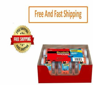 Scotch Heavy Duty Shipping Packaging Tape Dispensers 1 88 X 27 7 Yd 6 Pack
