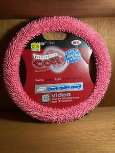 97048 9di Shaggy Pink Hyperflex Core Steering Wheel Cover Easy To Install