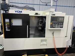 Ycm Ntc 1600lsy Cnc Lathe 2017 Sub spindle Live Tooling Tool Setter Chip Con