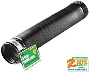 Flex drain 54021 Flexible expandable Landscaping Drain Pipe Solid 4 in By 8 ft