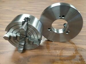 5 4 jaw Lathe Chuck W Independent Jaws W D1 4 Semi finished Adapter 0504f0