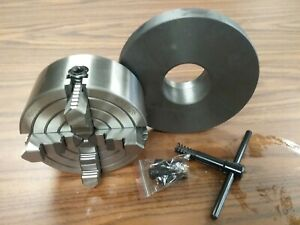 5 4 jaw Lathe Chuck Independent Jaws W 2 1 4 8 Semi finished Adapter 0504f0