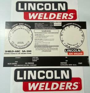 Lincoln Electric Arc Welders L 5750 Black Decal wrap Control Plate Decals