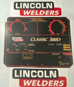 Lincoln Electric Arc Welders Classic 300d Decal wrap Control Plate Decals