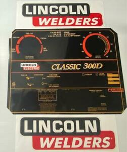 Lincoln Electric Arc Welders Classic 300d Decal Control Plate Decals L10849 2
