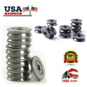 20 50pcs Mini V623 603zz Wire Pulley V groove Steel Bearings Widely Use 3 12 4mm