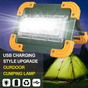 140000lm Led Work Light Portable Rechargeable Flood Spotlight Usb Lamp Stand