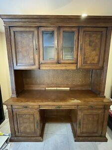 Executive Desk And Credenza With Filing Cabinet