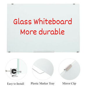 New 35 X24 Magnetic Dry Erase Board Glass Whiteboard Business Office Home Use