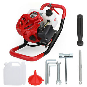 52cc 2 stroke Gasoline Gas One Man Post Hole Digger Earth Auger Machine 2hp Es