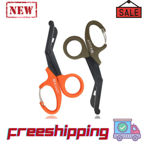 2 Pack Emt Trauma Shears With Carabiner 7 5 Bandage Scissors Medical