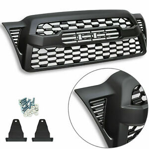 For 2005 2011 Tacoma Trd Pro Matte Black Plastic Grille Bumper With Letters Fits 2007 Toyota Tacoma