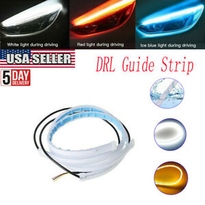 Sequential Led Strip Turn Signal Indicator Drl Daytime Running Lights For Car