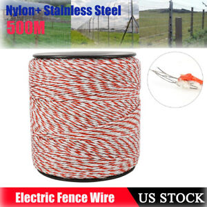 500m Stainless Steel Electric Fence Trident Poly Livestock Fence Wire White red