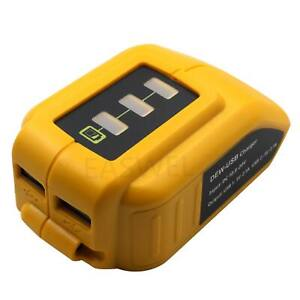 Phone Usb Charger Adapter Converter Lithium ion For Dewalt Dcb201 Dcb203 Dcb207