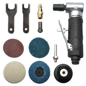 14 Inch Drive Mini Right Angle Air Die Grinder Kit 90 Polishing With Speed
