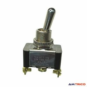 Electrical Toggle Switch Spdt On on 20 A 125v Ac Screw Terminal Heavy duty Usa