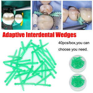 400 Dental Adaptive Wedges Disposable Silicone Interdental Wedges Matrice Green