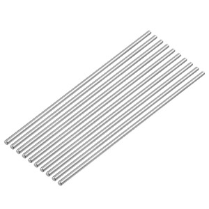 100mm X 4mm 304 Stainless Steel Solid Round Rod Pack Of 10 Smooth Surface