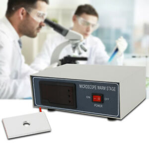 Microscope Temperature Control Stage Slide Warmer Plate Lab Warming Tool Durable