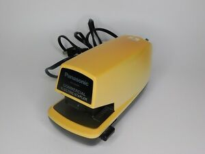 Vintage Panasonic Commercial Stapler As 300nn Tested Working Yellow Brown