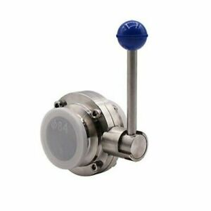 Sanitary Butterfly Valve With Pull Handle Stainless Steel 304 Tri Clamp 2 Inch