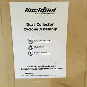 Bucktool Dust Collector Cyclone Assembly New 60l Dust Drum