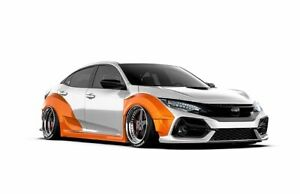 Honda Civic Full Wide Body Kit Available For Models 2015 Flairs Ducktail Fender