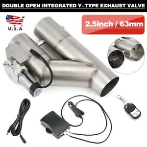 25inch Electric Exhaust Cutout Downpipe E Cut Out Dual Valve Controller Remote